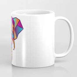 Elephant | Geometric Colorful Low Poly Animal Set Coffee Mug