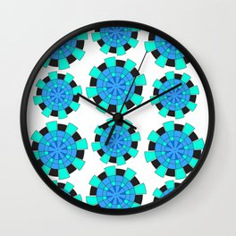abstract green and blue cloves Wall Clock