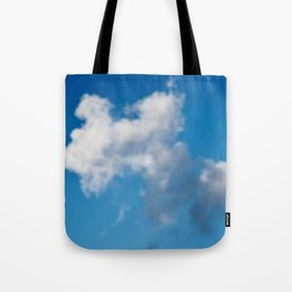 Dreaming floating candy on blue Tote Bag