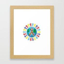 Autism awareness day Shirt - support autistic kids Framed Art Print