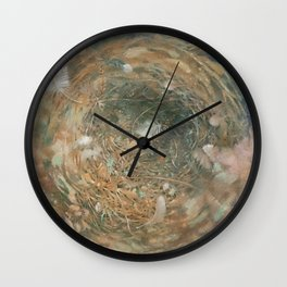 Nest and Feathers Wall Clock