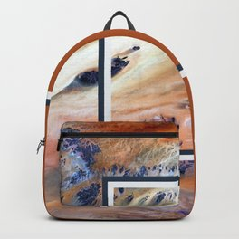 Split Perspective - Abstract Geometric Design Backpack