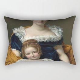 Jacques-Louis David - Portrait of the Comtesse Vilain XIIII and her Daughter Rectangular Pillow