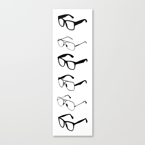 GLASSES II Canvas Print