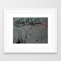pretty little liars Framed Art Prints featuring Pretty Little Liars by Alexandrapatton12