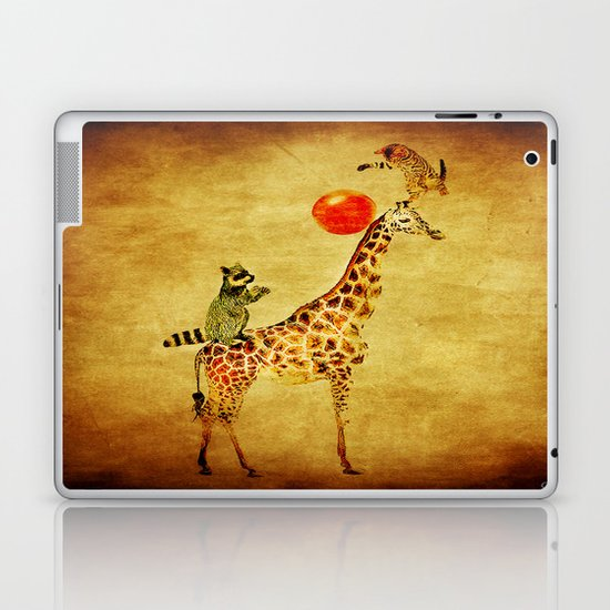 By playing on the giraffe Laptop & iPad Skin