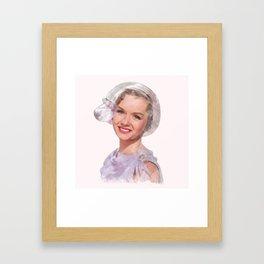 Debbie Reynolds - Singin' in the Rain - Watercolor Framed Art Print