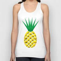 pineapple Tank Tops featuring Pineapple by mailboxdisco