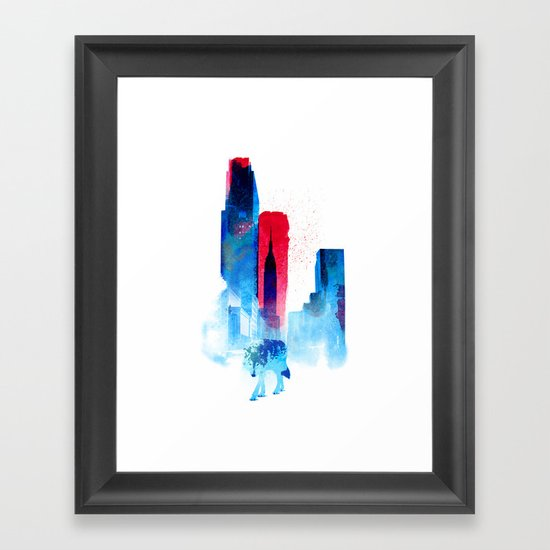 The wolf of the City Framed Art Print