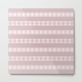 Strawberry Cream Snow Flakes Metal Print