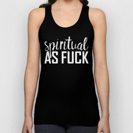 spiritual as fuck Unisex Tank Top