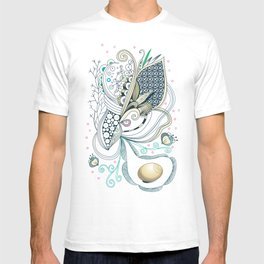 Beige tangle of joy and vibrant nature T-shirt