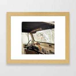 Old Dashboard. Framed Art Print