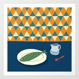Fish Supper I Art Print