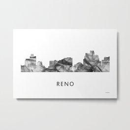 Reno, Nevada Skyline WB BW Metal Print