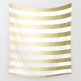 Simply Striped Gilded Palace Gold Wall Tapestry