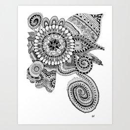 Zendoodle Print Art Print