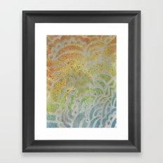 Drawing Meditation: Stencil 1 - Print 7 Framed Art Print