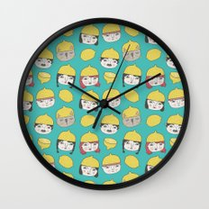Pattern Project #10 /Lemon Hats Wall Clock