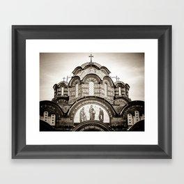 Monastery Katholikon in Greece Framed Art Print