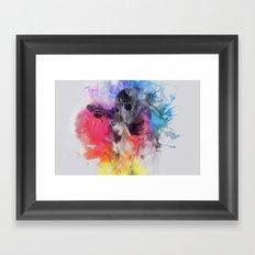 black butterflies Framed Art Print