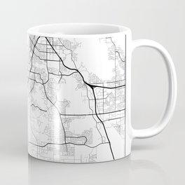 Minimal City Maps - Map Of Riverside, California, United States Coffee Mug