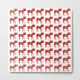 Graphic Dala Moose Multiples Metal Print