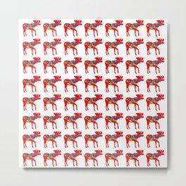 Graphic Moose 03 Swedish Dala Male Multiples Metal Print