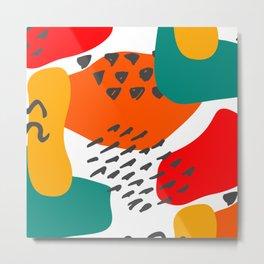 Scribble Paint Pattern Decoration Metal Print