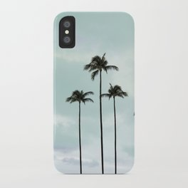 Palm Tree | Landscape Photography | Sunset Clouds | Blue Sky | Minimalism iPhone Case