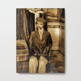 Timeless Tailor Metal Print