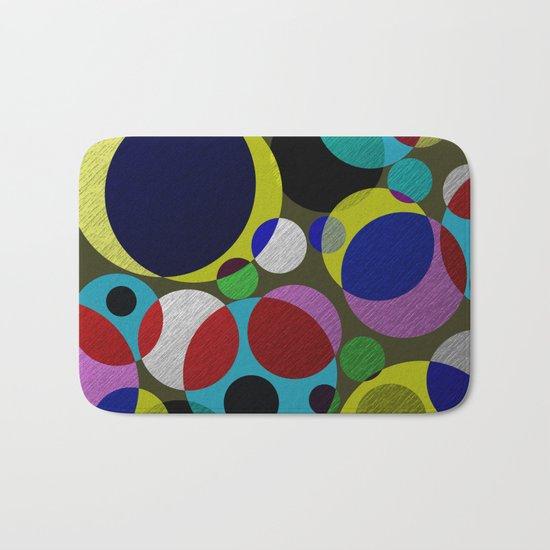 Bubbles - Fun, geometric, colourful design Bath Mat