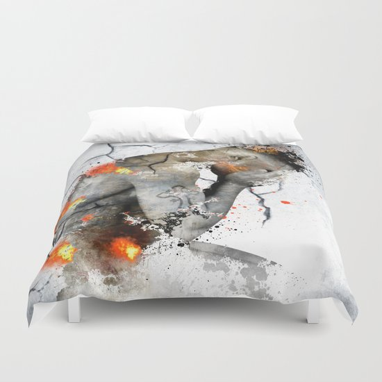 nude explore  Duvet Cover