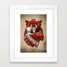 The Lotus Tiger Framed Art Print