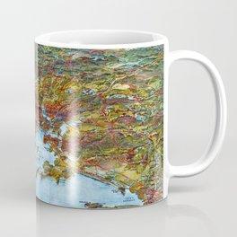 BOSTON MASSACHUSETTS city old map Father Day art print Coffee Mug