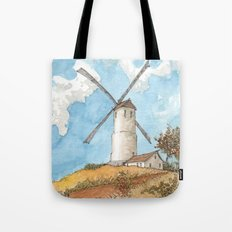 Windmill Against a Blue Sky Tote Bag