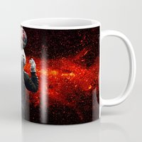 football Mugs featuring Football by Cs025