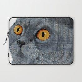 Blue British Shorthair cat Laptop Sleeve