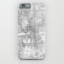 Indianapolis Map Line iPhone Case