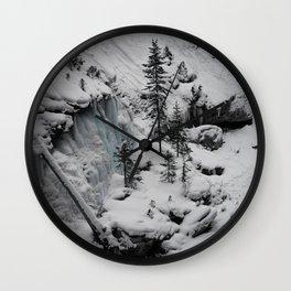 Snowy Slopes Wall Clock