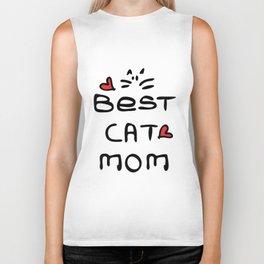 Best cat mom Biker Tank