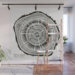 Paper Birch – Black Tree Rings Wall Mural