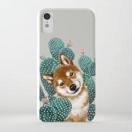 Shiba Inu and Cactus iPhone Case