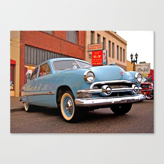 Baby blue and cool Canvas Print