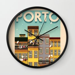 Portugal - Porto Wall Clock