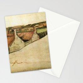 View of Scheveningen, spire in background Stationery Cards