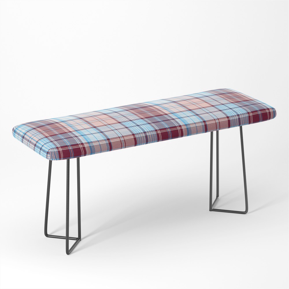 In_Teal_And_Burgundy_Plaid_Bench_by_mpzstudio