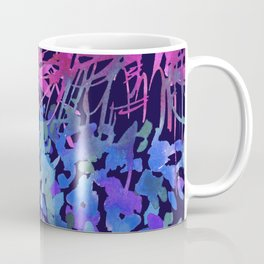 Wild Flowers in Navy Coffee Mug