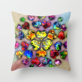 heart beat II Throw Pillow
