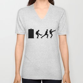 The Tardis of Silly Walks Unisex V-Neck